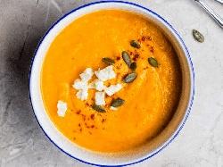 Есенна крем супа от тиква и гъби - снимка на рецептата